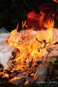 Trash the dress on fire useful idea