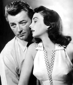 Robert Mitchum & Jean Simmons in Angel Face (Otto Preminger, 1952).