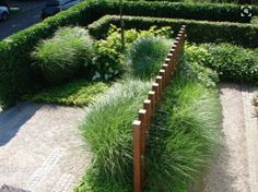 contemporary garden with boxwood hedges and ornamental grasses : Contemporary Garden Design. beautiful home garden,contemporary garden homes,contemporary garden ideas,garden design ideas,garden designs Back Gardens, Small Gardens, Outdoor Gardens, Contemporary Garden Design, Landscape Design, Contemporary Landscape, Modern Design, Garden Screening, Garden Architecture