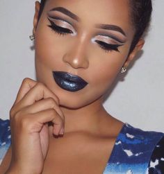 Bold lips are one of the hottest trends this holiday season, and we just can't get enough of it! @annybeeutee is rocking a smudge-free bold lip in our Space Cake Lip Whip.   Achieve the same the look here: https://www.beautybakerie.com/collections/metallic-lip-whips/products/space-cake-metallic-lip-whip — Products shown: Space Cake Metallic Lip Whip