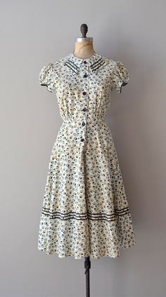 1930s dress / vintage 30s dress / Unicode dress by DearGolden, $178.00