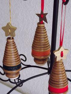 Ornament, Christmas, Ornament, Bobbin Christmas Tree Ornament, Wooden Bobbin, Christmas Gift, Ornament on Etsy, $5.45 CAD