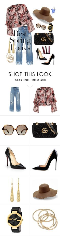 """""""Spring Has Sprung"""" by dperfectwifey ❤ liked on Polyvore featuring 3x1, River Island, Prada, Gucci, Christian Louboutin, Peter Grimm, ABS by Allen Schwartz, Thierry Mugler and H&M"""