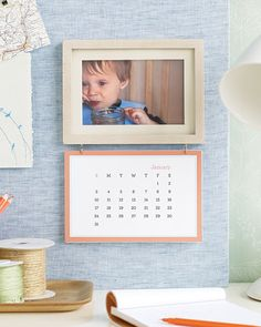 frame with calendar - christmas presents