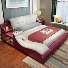All In One Massage Double Bed Frame With Speakers Storage Safe Perfect Relaxati Bed Designs With Storage Bed