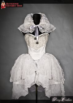 Costume Couture inspired by the Snowqueen character of the The Nutcracker story. It consists of a corset in white silk satin steel-boned, lined, Burlesque Costumes, Tutu Costumes, White Chiffon, White Silk, Hipster Dress, Costumes Couture, Jumpsuit Dress, Silk Satin, Playing Dress Up