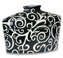 Black Swirl - GreenLeaf effusion fragrance lamps, fragrance oil burners make an excellent birthday gift, wedding gift, mother's day gift or anniversary gift. Green Leaf lamps are the perfect way to add scent to your home decor