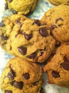 Chocolate chip cookies. Garbanzo bean flour. #vegan #glutenfree