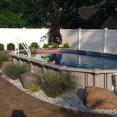 12x24 Semi Inground Pool -