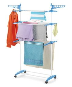 Look what I found on Maxdry Multi-Function Clothes Dryer by Bonita Compact Laundry, Small Laundry Rooms, Laundry Room Storage, Cloth Drying Stand, My Beautiful Laundrette, Laundry Dryer, Clothes Dryer, Folded Up