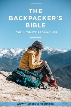 The ultimate backpacking packing list for travel. Practical tips, outfits, fashion and essentials for men and women. Read more. #packinglist #packing #traveltips #travel