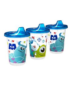 Look at this #zulilyfind! Blue Monsters Inc Sippy Cup - Set of Three by Disney Baby #zulilyfinds