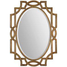 Uttermost Margutta Gold Decorative Oval Mirror - Overstock™ Shopping - Great Deals on Uttermost Mirrors Antique Gold Mirror, Oval Mirror, Beveled Mirror, Antique Silver, Square Mirrors, Vintage Mirrors, Sunburst Mirror, Beveled Glass, Uttermost Mirrors