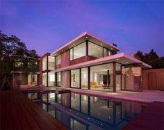 Remodelación de casa Evans House, arquitectura y diseño inspirados en los atardeceres de los Ángeles http://www.arquitexs.com/2011/12/remodelacion-de-casa-evans.html