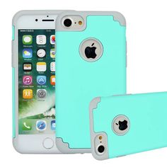 2 in 1 Shockproof Rugged Hybrid Rubber Soft TPU + Hard PC Case Cover For iPhone 7 4.7 inch