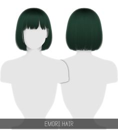 The Sims 4 CC: Fryzura Emori od Simpliciaty Prom Hairstyles, Hairstyles With Bangs, Medium Hairstyles, Short Hair With Bangs, Short Hair Styles, Hair Bangs, Mod Hair, Sims 4 Black Hair, The Sims 4 Cabelos