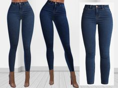 The Sims Resource: New Look Super Soft Skinny Jeans by Saliwa Boyfriend Jeans Damen, Skinny Jeans Damen, Sims Mods, Adidas Hose, Sims 4 Cc Folder, Sims 4 Traits, Ripped Jeggings, Sims 4 Dresses, Sims4 Clothes