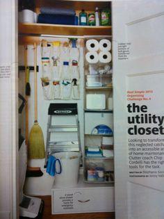 Merveilleux Utility Closet Organization | Closet Ideas | Pinterest