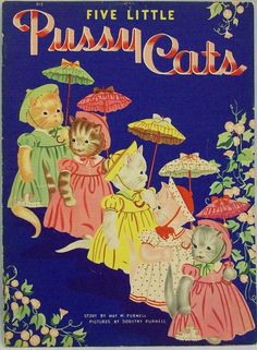 Vintage 1940 Whitman book 'FIVE LITTLE PUSSY CATS', May Purnell