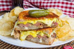 April Is National Grilled Cheese Month... Cuban Grilled Cheese Sandwich (1) From: Closet Cooking, please visit