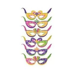 amscan mardi gras party masks package of 6