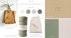 Ana Lui wanted some new packaging to go with her new branding. I put a mood board together based on her brand colours. I love mood board. Box Studio, Wood Tags, Branding, Photography Packaging, Cotton Bag, Letterpress, Mood Boards, Business Cards, Wedding Photography