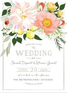 NEW! Minted Weddings 2016 wedding invitation suites. Find more unique designs from the Minted community of independent artists by clicking here now.