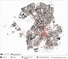 Zumelzu_Spatial identification of functions and urban quarter's boundaries in Woensel area 2012 Architecture Mapping, Architecture Concept Diagram, Architecture Graphics, Architecture Drawings, Building Architecture, Eindhoven, House Minimalist, Urban Mapping, Map Diagram