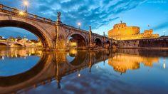 Most, Saint Angelo, Zamek, Anioła, Rzym, Włochy