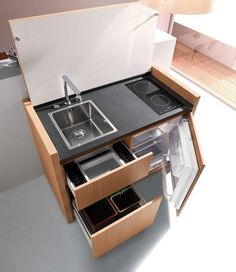 K1 Mini Kitchen, this would be very useful for my space challenged garden rooms.