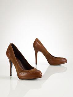 Oxford Leather-Suede Pump - Lauren by Ralph Lauren Shoes - RalphLauren.com