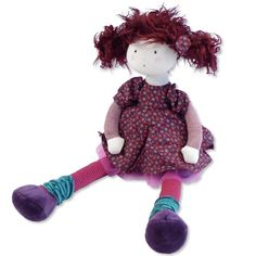 "Beautiful, classic rag doll from French toymaker Moulin Roty. This doll's hair is so fun - just shake her head to give it some ""oomph!"" #ecotoysusa #naturaltoys #ragdolls"