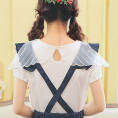 """Japanese sweet lace bow strap dress shirt suit - Use the code """"batty"""" at Cute…"""