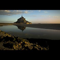 Mont Ste. Michele in Normandy, France - by Ron Miller - one of the coolest pics I've seen