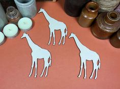 Giraffe 12cm - Wooden Giraffe Shape x 3, Craftshapes