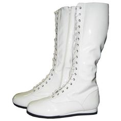 Shop for White Adult Pro Wrestling Boots Costume. Get free delivery On EVERYTHING* Overstock - Your Online Men's Clothing Shop! Wwe Costumes, Wrestling Costumes, Halloween Costumes, Adult Halloween, Adult Costumes, Mens White Boots, White Shoes Men, White Leather, Pro Wrestling Boots