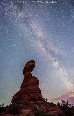 Milky Way Over Balanced Rock by Jaykhuang, via Flickr