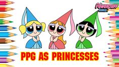 Powerpuff Girls Coloring Pages | PPG Blossom Angry Brick Kiss ...