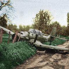 A downed Stuka.
