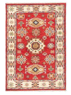 "Hand-Knotted Royal Kazak Rug, Cream/Red, 4' 1"" x 6', http://www.myhabit.com/redirect/ref=qd_sw_dp_pi_li?url=http%3A%2F%2Fwww.myhabit.com%2Fdp%2FB0118NZVFG%3F"