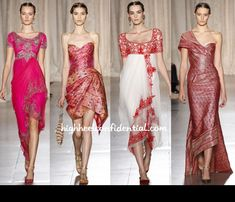 Marchesa Spring 2013 | Interesting take on the sari, especially by a non-Indian designer.