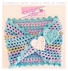 Strawberry Twisty Crochet Cowl