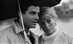 Nino Castelnuovo and Catherine Deneuve..les parapluies de cherbourg