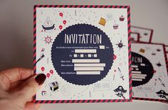 invitation anniversaire pirate