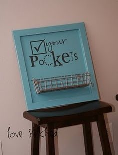 For the laundry room. Love this idea and there is great tutorial to go with this link.