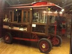Historic Popcorn Wagon. Come see it in Columbus, Wisconsin