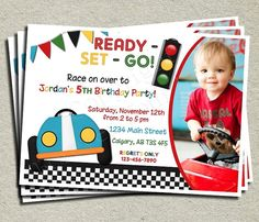 Items Similar To Race Car Invitation Invite Boys Birthday Party Racing Printable