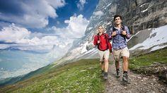 Näher an die berühmte Eiger Nordwand führt kein Weg: Der Eiger Trail garantiert zwei Stunden Nervenkitzel auf höchstem Niveau.