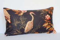 Lumbar Pillow  12x21  Black Pillow  Decorative by couchdwellers, $25.00