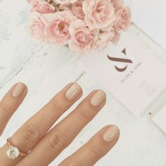 the prettiest mani from Olive & June at the LC Runway Pop-Up Shop